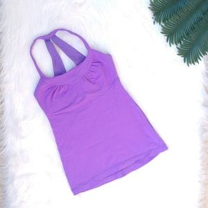 Lululemon Scoop Me Up Purple Yoga Tank Top